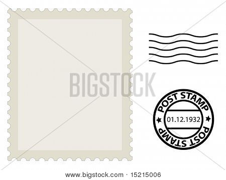 Post Stamp Template Vector  Photo (Free Trial) Bigstock