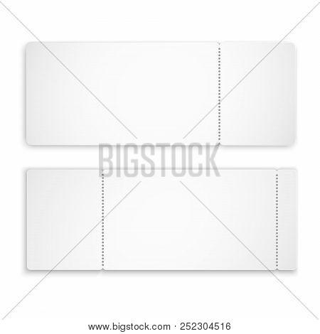 Set Blank Ticket Vector  Photo (Free Trial) Bigstock