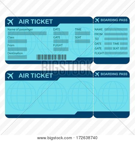 Airline Plane Ticket Template Vector  Photo Bigstock - plane ticket template