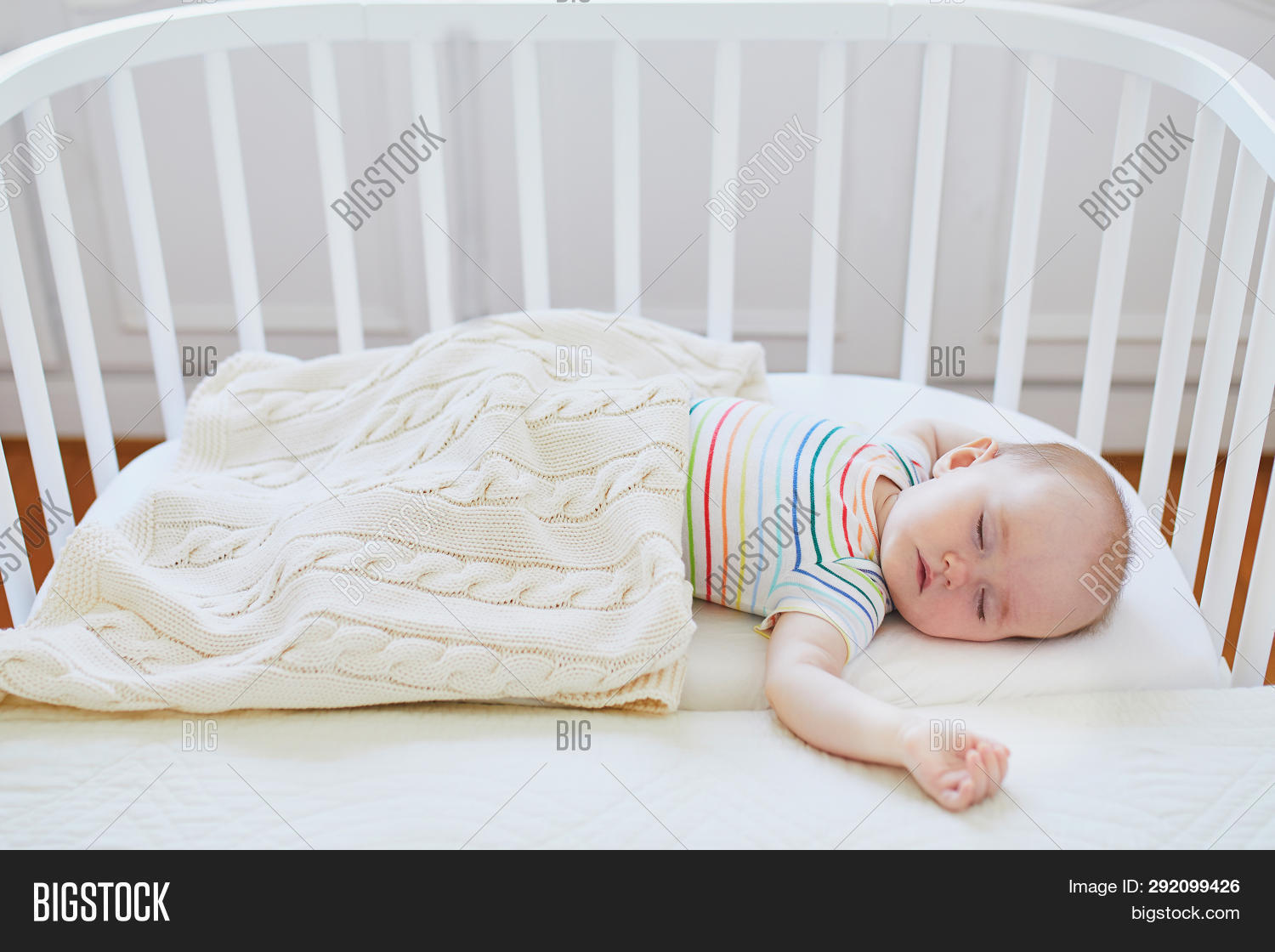 Baby Cots That Attach To Beds Baby Sleeping Co Image Photo Free Trial Bigstock