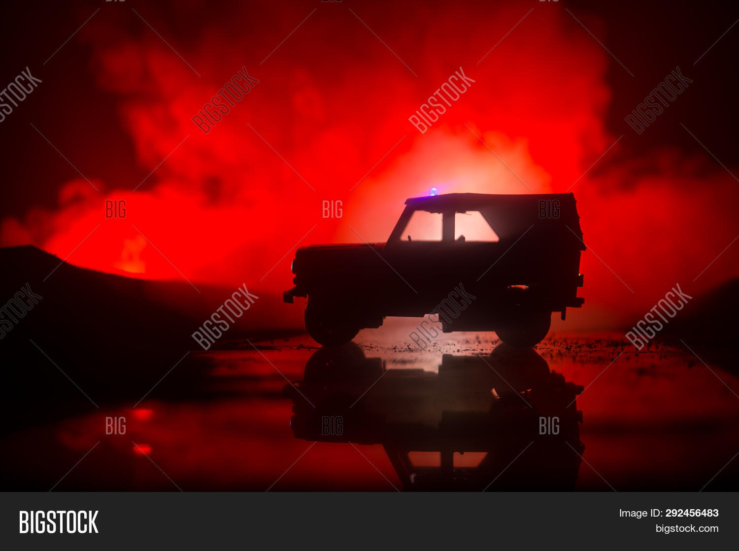 Police Cars Night Image Photo Free Trial Bigstock