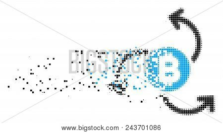 Dispersed Bitcoin Vector  Photo (Free Trial) Bigstock