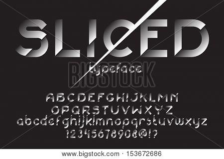 Sliced Font Original Vector  Photo (Free Trial) Bigstock