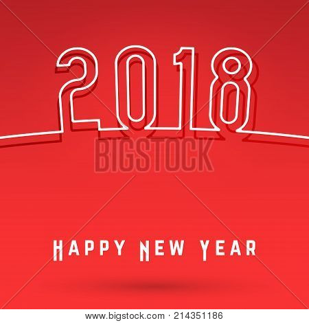 2018 Happy New Year Cover Template Vector  Photo Bigstock