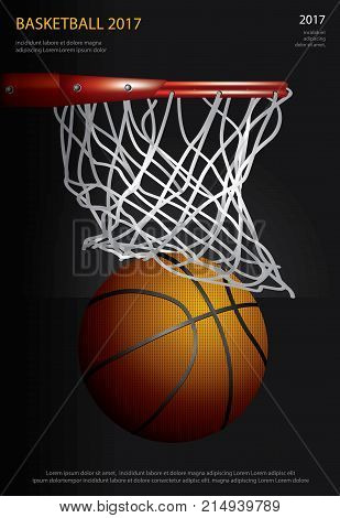 Basketball Poster Vector  Photo (Free Trial) Bigstock