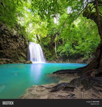 Waterfall Landscape Image & Photo (Free Trial) | Bigstock