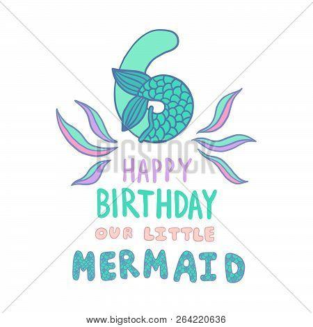 Number Six Mermaid Vector  Photo (Free Trial) Bigstock