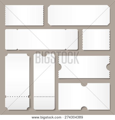 Blank Ticket Template Vector  Photo (Free Trial) Bigstock