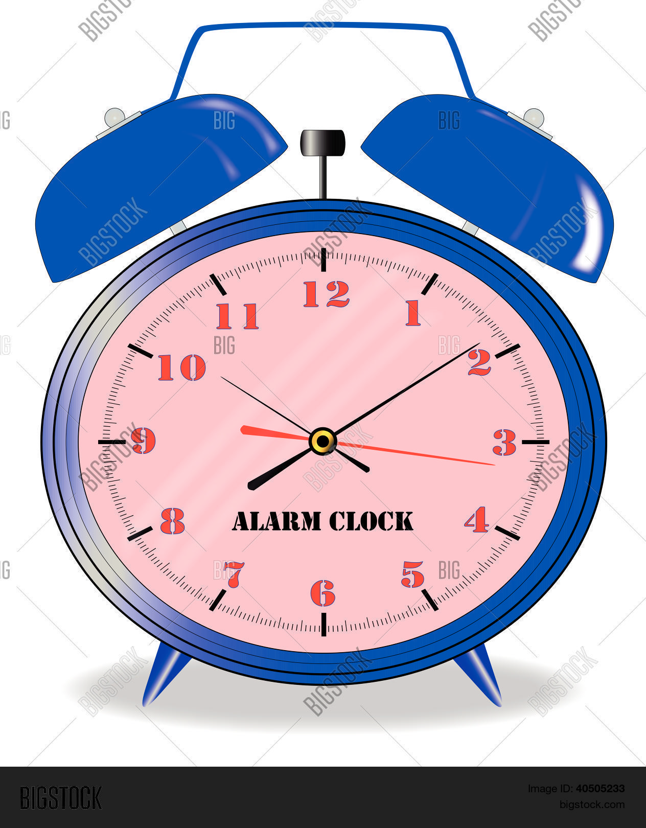 Oval Clock Face Oval Alarm Clock Vector Photo Free Trial Bigstock