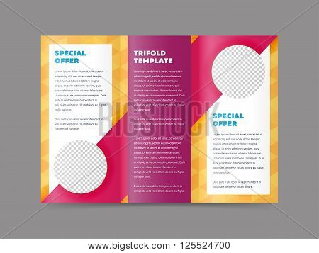 Colorful Tri Fold Vector  Photo (Free Trial) Bigstock