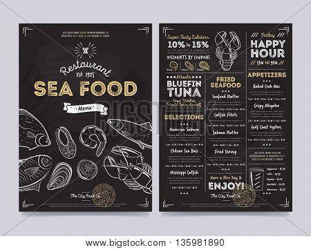 Seafood Restaurant Vector  Photo (Free Trial) Bigstock