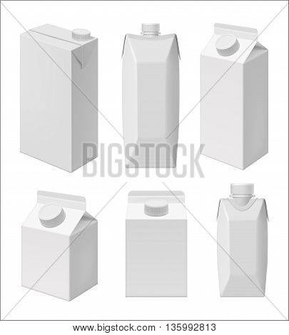 Carton Milk Juice Vector  Photo (Free Trial) Bigstock - Milk Carton Template