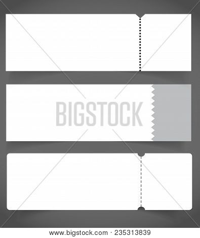 Blank Event Concert Ticket Mockup Vector  Photo Bigstock
