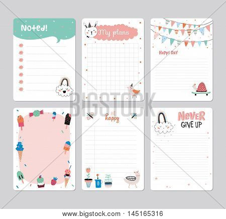 Cute Daily Planner Vector  Photo (Free Trial) Bigstock