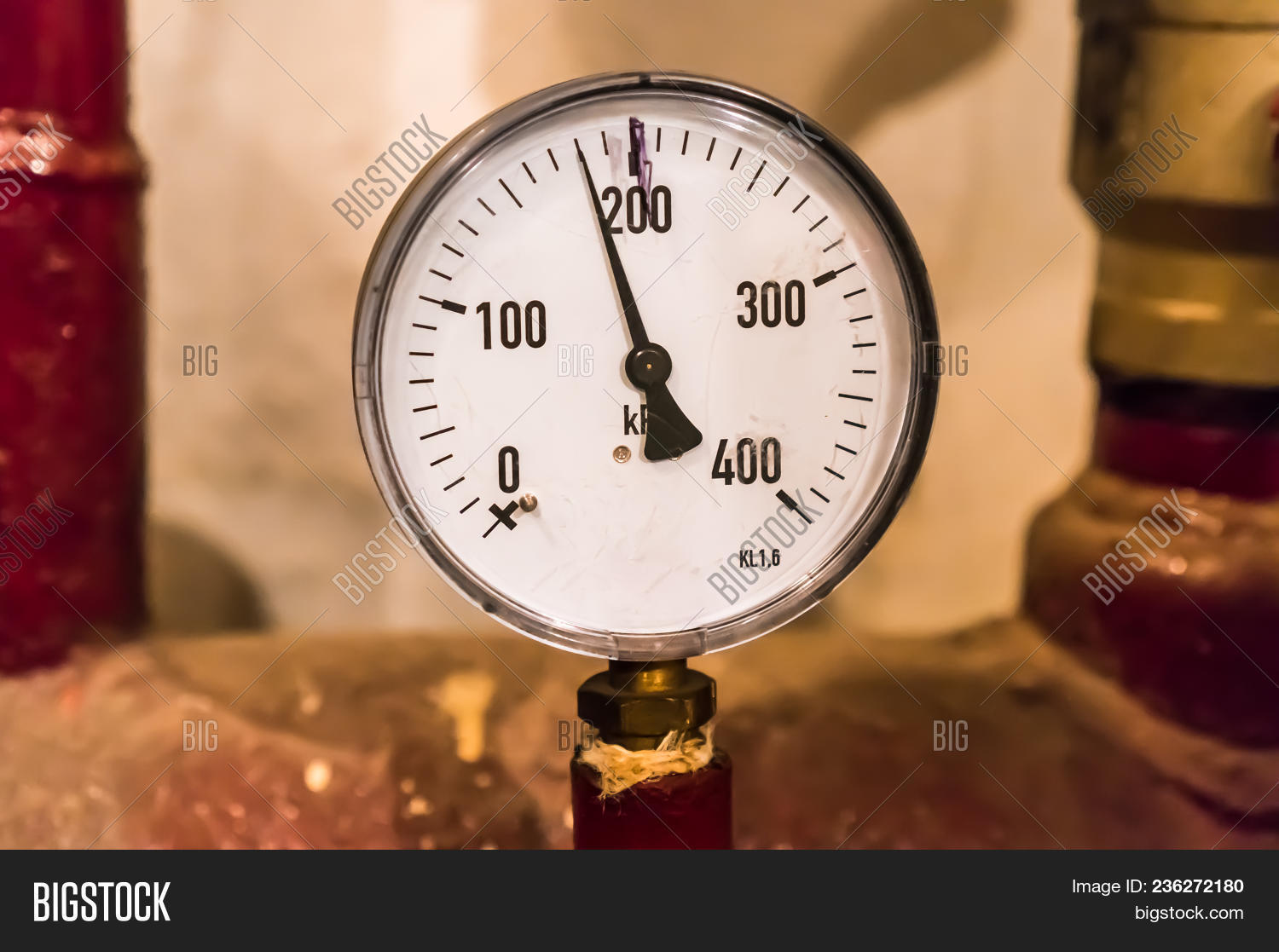 Closein Boiler Close Manometer Image Photo Free Trial Bigstock