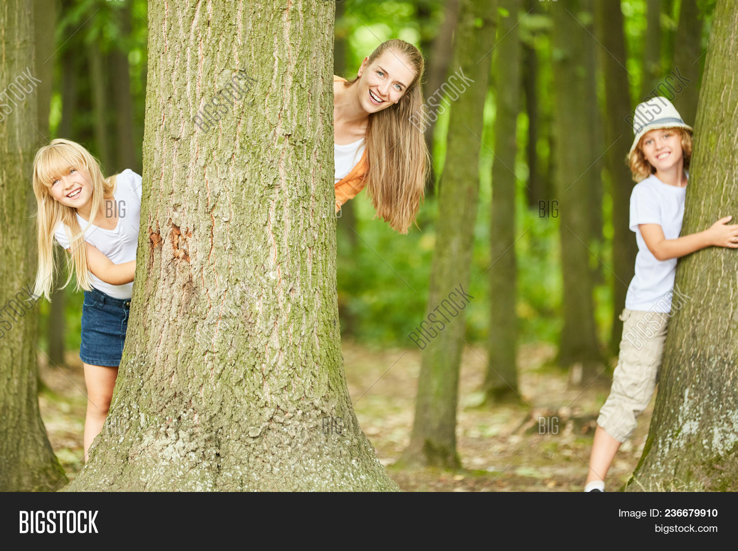 Hide And Seek Kids Mother Two Kids Have Image Photo Free Trial Bigstock