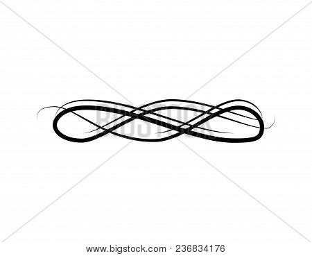 Swirly Line, Vintage Vector  Photo (Free Trial) Bigstock