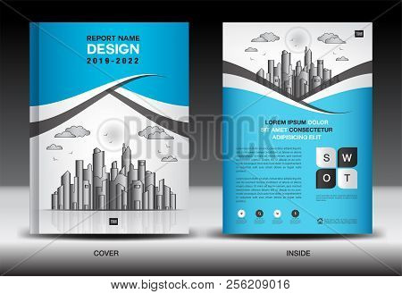 Blue Cover Template Vector  Photo (Free Trial) Bigstock