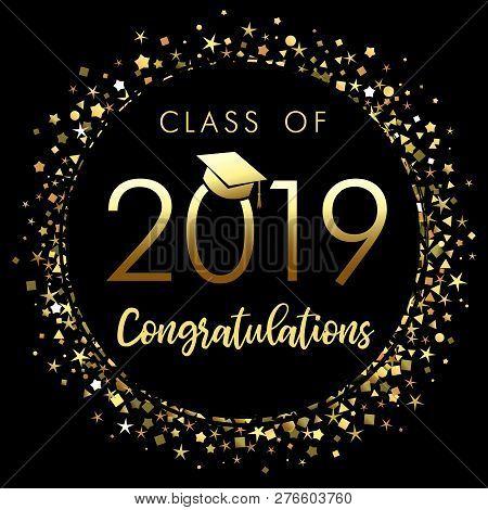 Class 2019 Graduation Vector  Photo (Free Trial) Bigstock