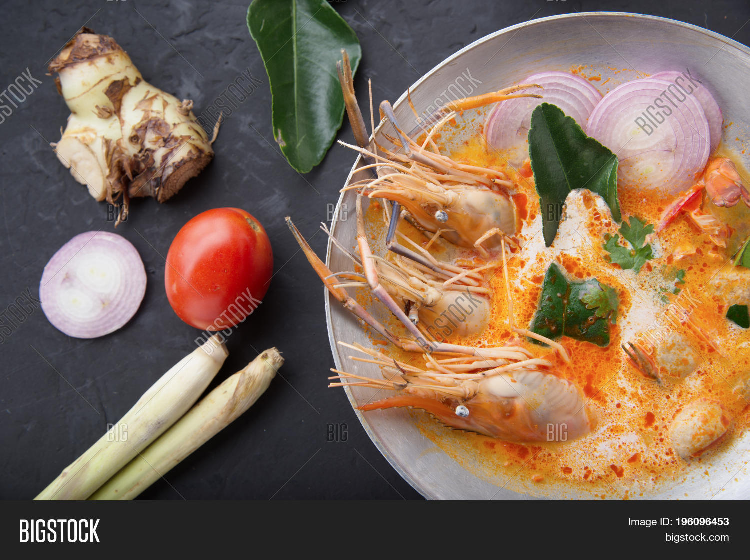 Cuisine Yam Tom Yam Kong Tom Yum Image Photo Free Trial Bigstock