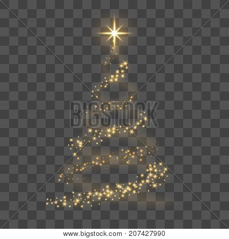 Gold Christmas Tree Vector  Photo (Free Trial) Bigstock