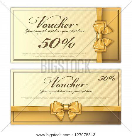 Voucher Design Vector  Photo (Free Trial) Bigstock - coupon voucher template