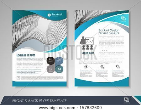 Modern Blue Brochure Vector  Photo (Free Trial) Bigstock - free design flyer templates