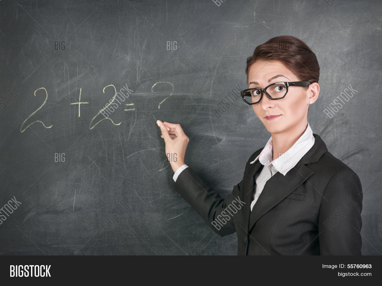 Teaching Maths Woman Teacher Teaching Maths Image Photo Bigstock
