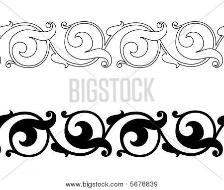 Scroll Border Images, Illustrations  Vectors (Free) - Bigstock
