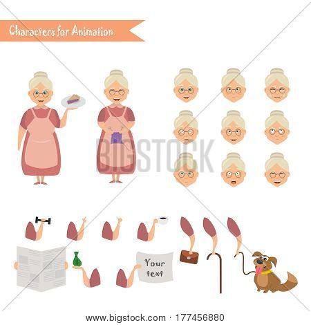 Grandmother Housewife Character Vector  Photo Bigstock