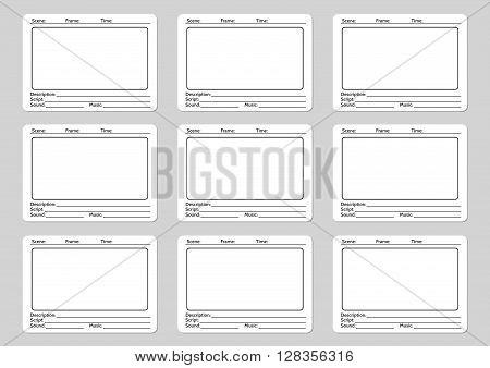 Storyboard Template Film Story Vector  Photo Bigstock
