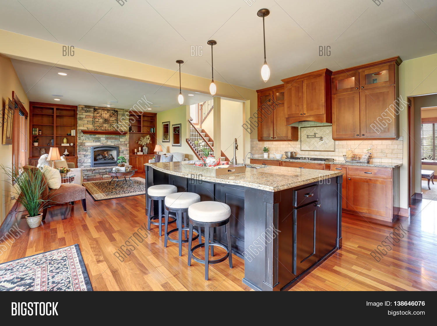 Small Kitchen Area Small Kitchen Area Open Floor Plan Image And Photo Bigstock