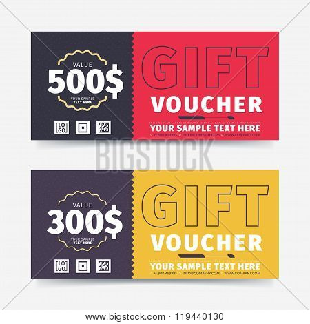 Gift Voucher Template Vector  Photo (Free Trial) Bigstock