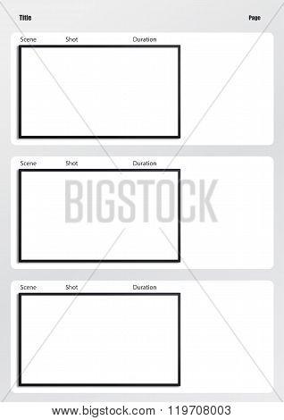 Hdtv Storyboard Template 3 Frame Image  Photo Bigstock