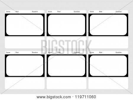 Hdtv Classical Style 6 Frame Vector  Photo Bigstock