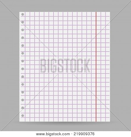 Notebook Blank Paper Vector  Photo (Free Trial) Bigstock