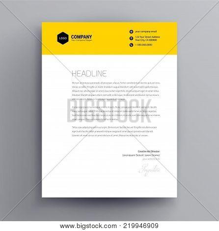 Letterhead Design Vector  Photo (Free Trial) Bigstock