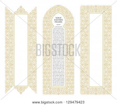 Eastern Gold Frames, Vector  Photo (Free Trial) Bigstock - frame for cards