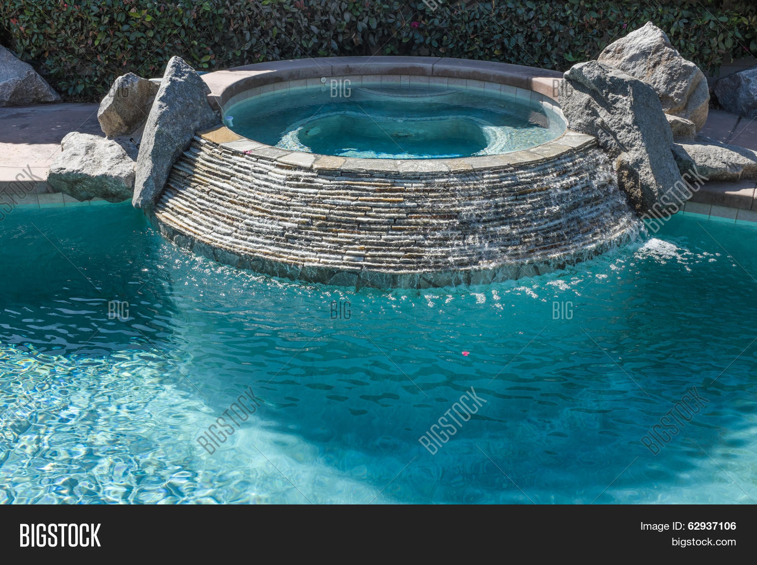 Jacuzzi In The Pool Hot Tub Swimming Pool Image Photo Free Trial Bigstock