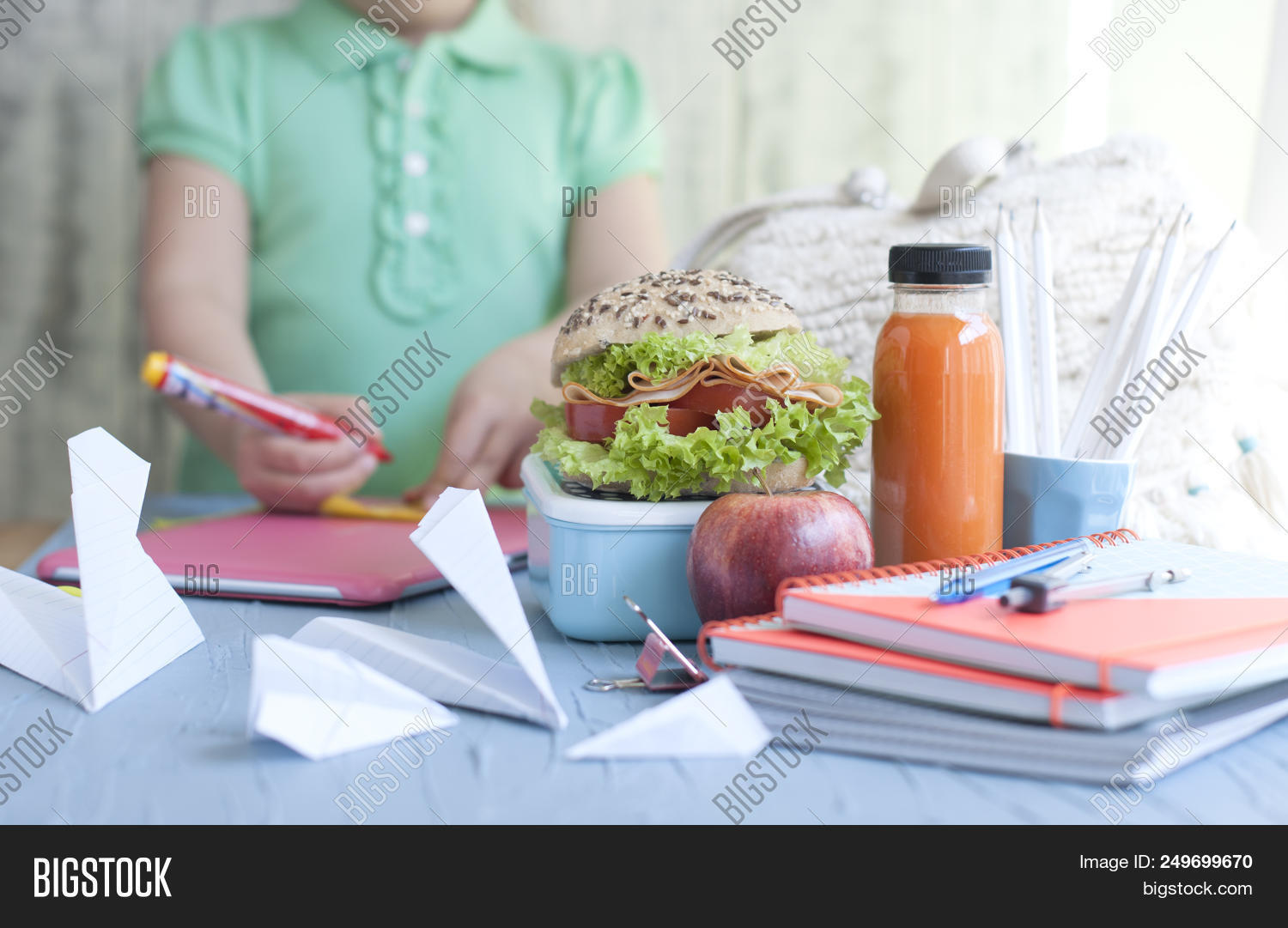 Lunch In A Box School Lunch Box Juice Image Photo Free Trial Bigstock