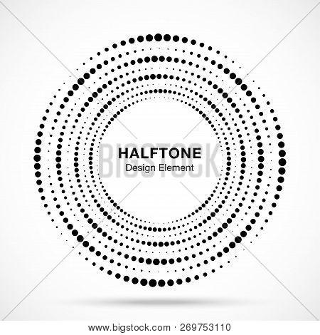 Halftone Circular Vector  Photo (Free Trial) Bigstock