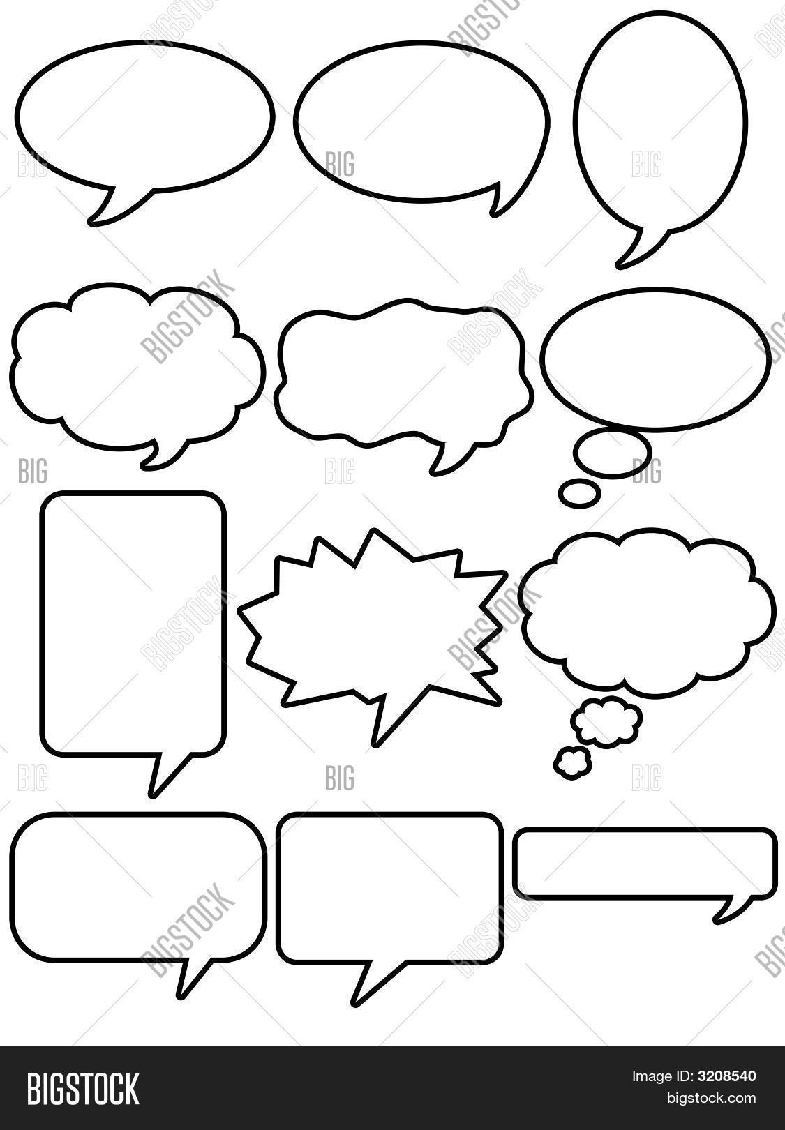 Cuadro Comic Comic Dialogue Box 2 Image And Photo Bigstock