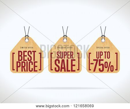 Sale Tag Vector Isolated Discount Vector \ Photo Bigstock - sale tag template