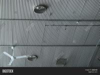 Corrugated Tin Ceiling Image & Photo   Bigstock