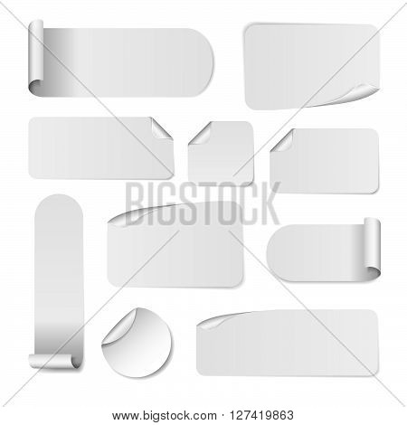 Blank White Paper Stickers Vector \ Photo Bigstock - white paper template