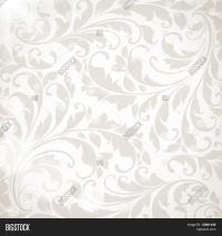 Wallpaper Floral Ornament Leafs Vector & Photo   Bigstock