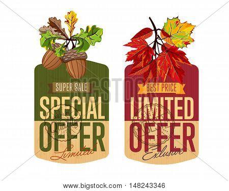 Autumn Sale Vector Banner Promo Vector \ Photo Bigstock - sale tag template