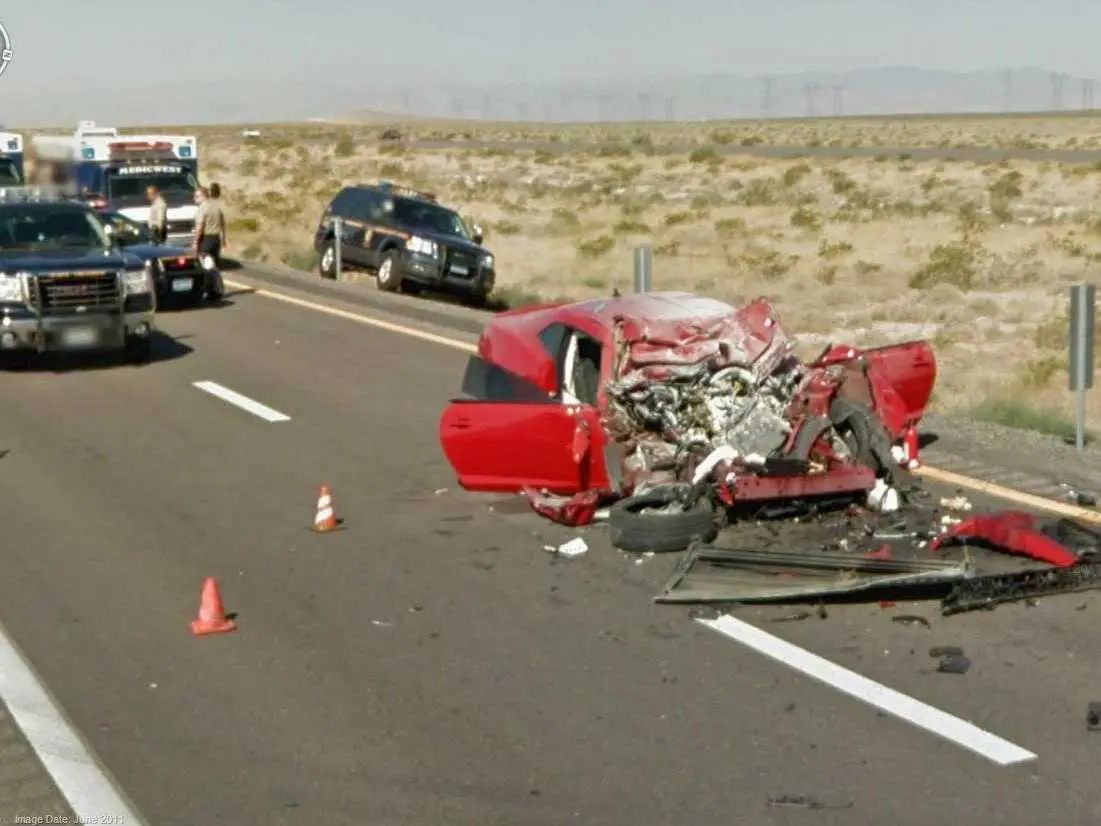 The aftermath of a horrific car accident google street view serious accident