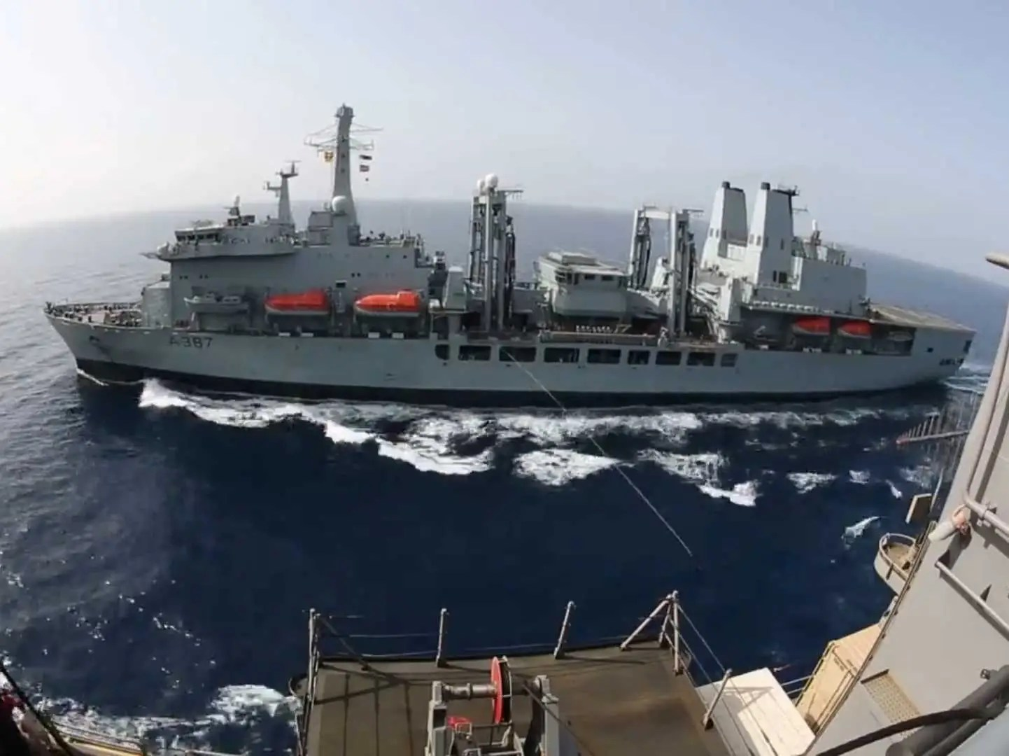 At Sea Video Shows How Ships Resupplied At Sea Business Insider
