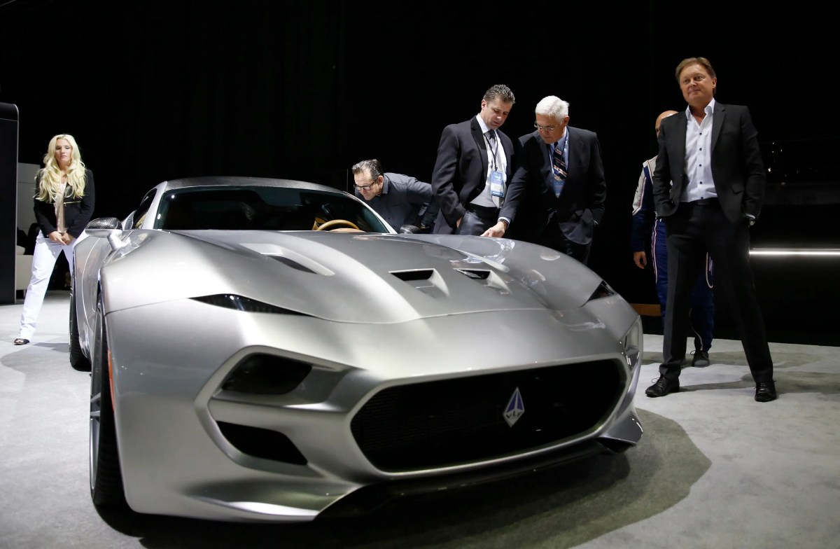 Henrik Fisker is back on the scene with his Force 1 concept vehicle, which he hopes will become a $300,000 production model made in the US.